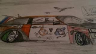 Рисунок ВАЗ 2108 бродяга и Шаха