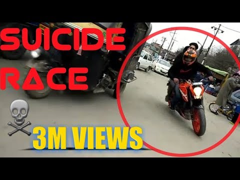 SUICIDE RACE KTM DUKE 200 VS DUKE 200|TRAFFIC