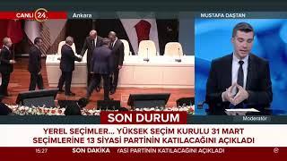 YSK 31 Mart'ta yerel seçime katılacak partileri açıkladı
