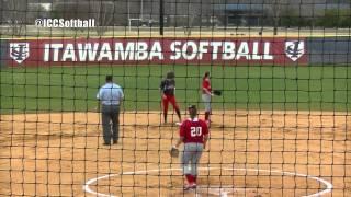 icc softball sweeps mississippi delta