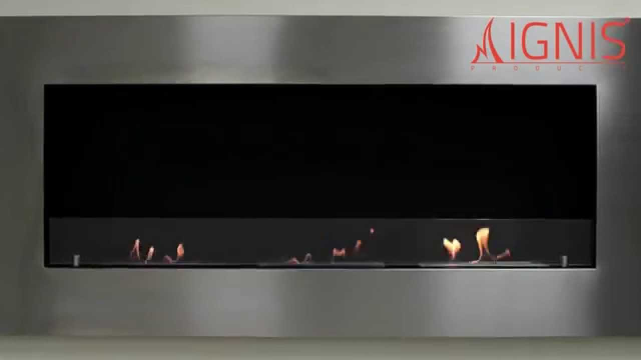 Ventless Ethanol Fireplace Optimum By Ignis Youtube