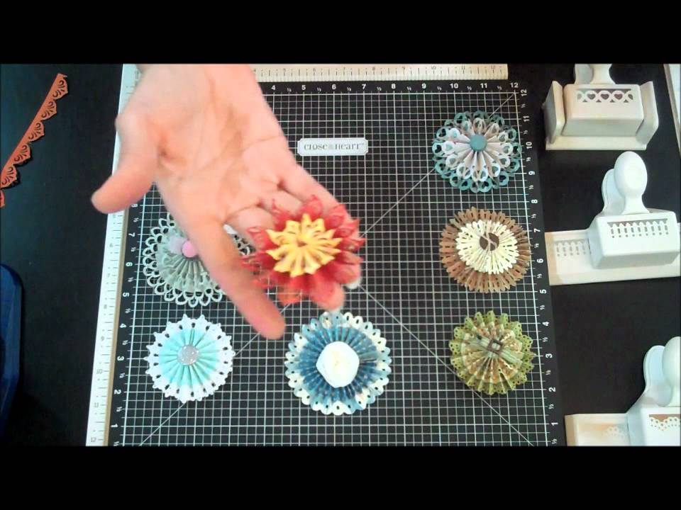 paper edger punches create beautiful flowerswmv  youtube
