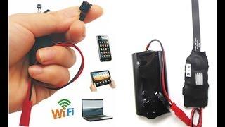 Instalação micro câmera IP turial wifi celular câmera sem fio câmera escondida