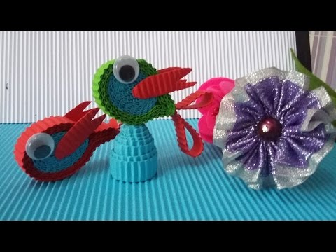 DIY a fish from corrugated paper / kokoru paper (easy and simple)