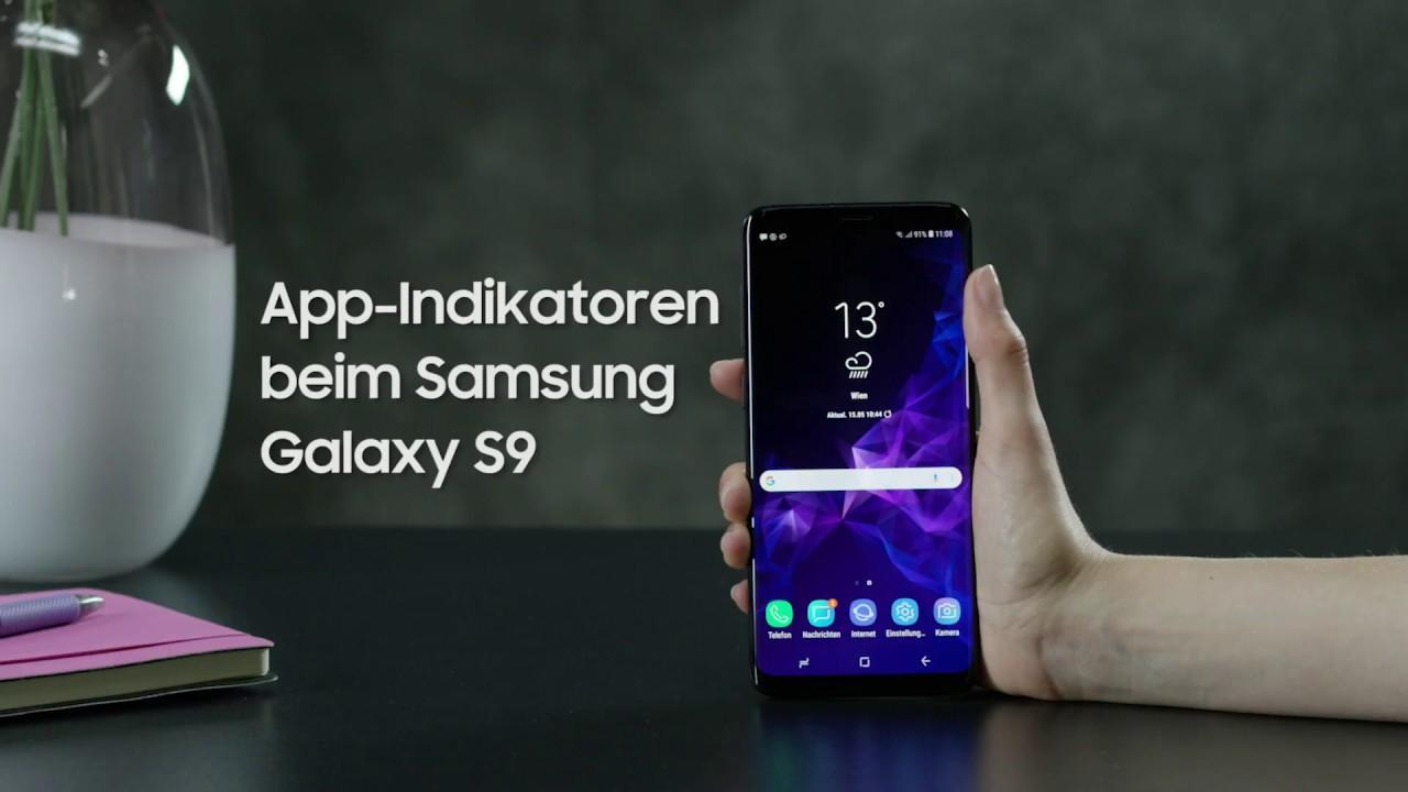 Samsung galaxy s9s9 : so verwenden sie app indikatoren youtube