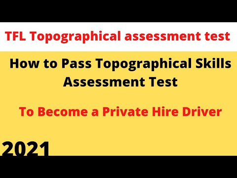 Topographical skills assessment test | How to pass Topographical Skills Assessment Test |Part 1 |tfl