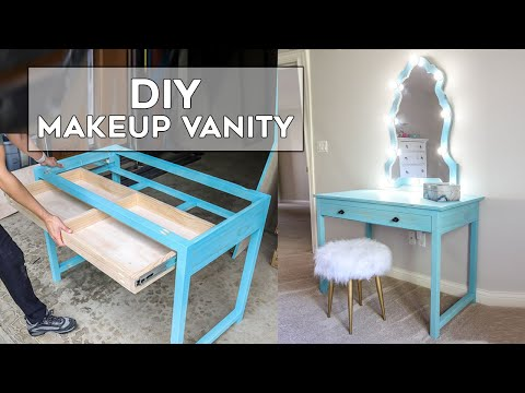 Diy Makeup Vanity How To Install Drawer Slides The Easy Way Youtube