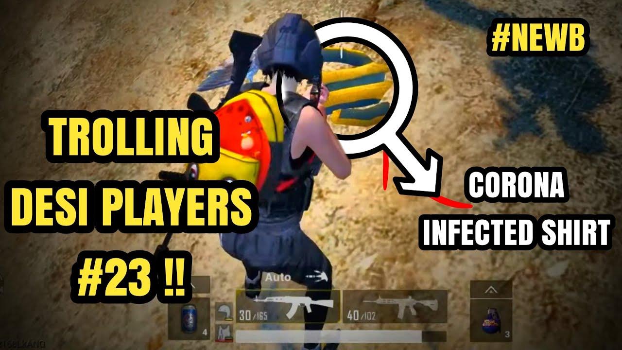 CORONA Virus | Trolling Desi Players #23 | NEWB | PUBG Mobile Bangladesh