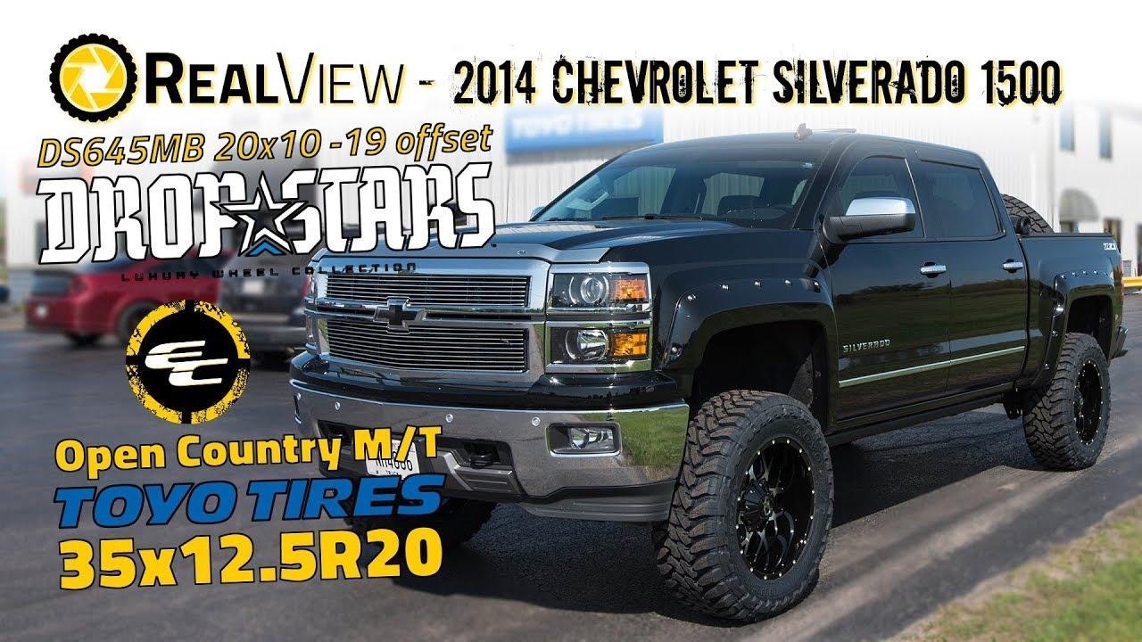 2014 Chevy Silverado Lifted >> Realview Lifted 2014 Chevy Silverado 1500 W 20x10 Dropstars 645s 35x12 5 Toyo M Ts
