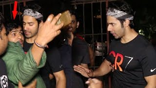 Varun Dhawan Gets Angry With Misbehaving Fan