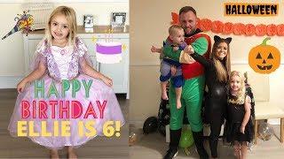 HALLOWEEN, WHAT WE GOT ELLIE FOR HER BIRTHDAY & ELLIE TURNS 6!! 🎃👻🎁🎈🎉