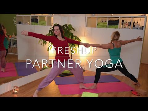FreshUp Partner Yoga Teaser Video   fun, trust and team work 2017