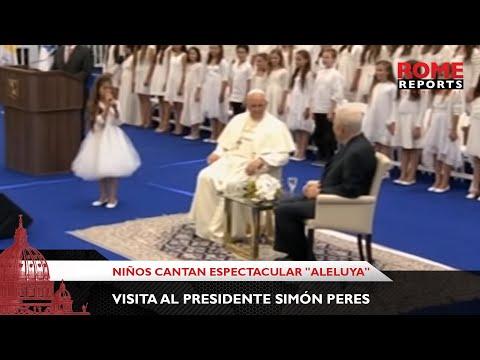 Niños cantan espectacular Aleluya al Papa durante visita al presidente Simón Peres | Rome Reports