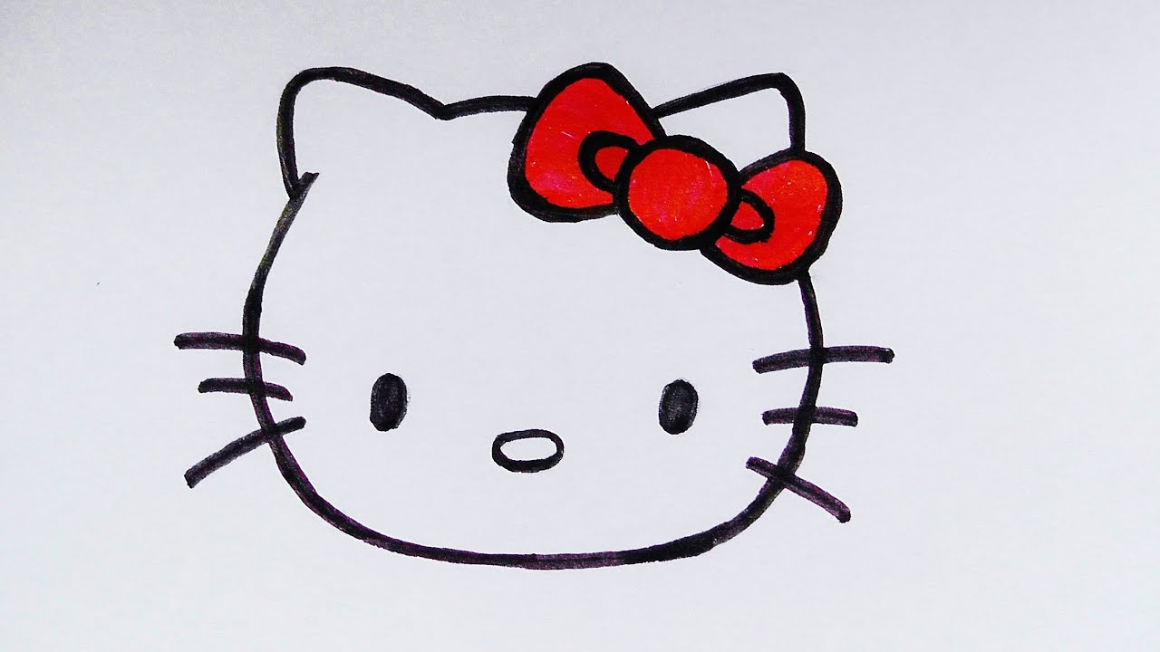 Uncategorized How To Draw A Kitten Face how to draw a hello kitty face artpedia youtube
