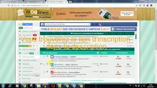 Travailler en ligne et Gagner de l'argent sur Internet avec Moolineo