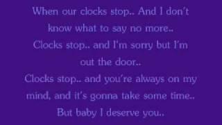 Clock Stop By: August; Lyrics