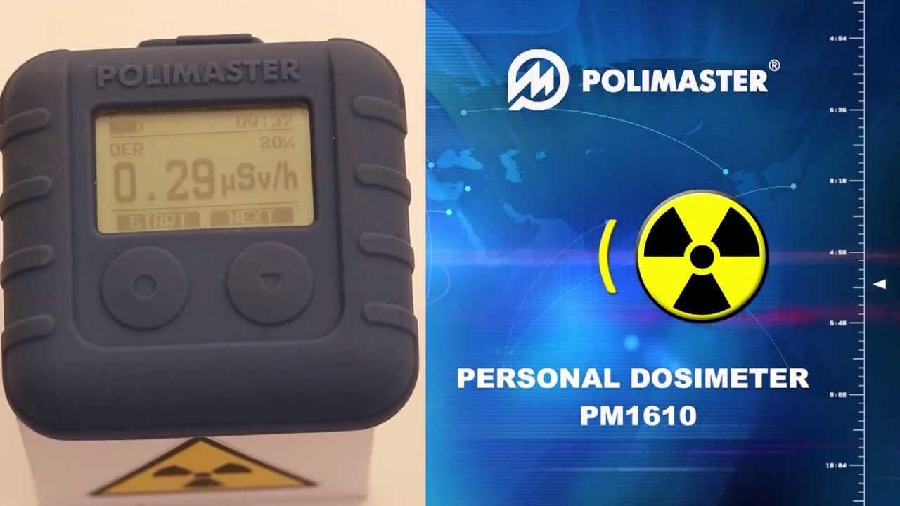 X Ray Radiation >> Personal Dosimeter POLIMASTER PM1610 - YouTube