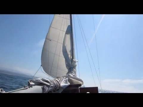 Solo Sail Pacific Coastline, Sailing from Monterey to Stillw