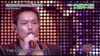 【So Right】三代目J Soul Brothers(LIVE) チャンネル登録 コメント評...