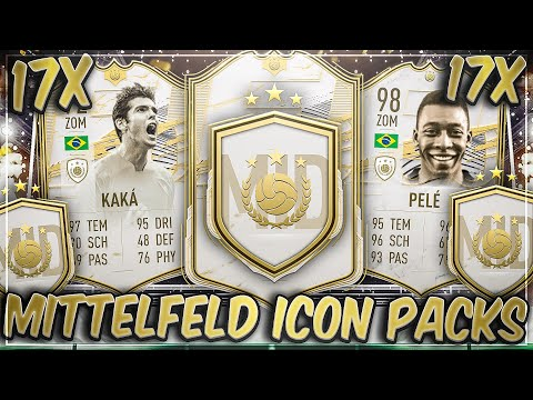 17x MOMENTS ODER PRIME MITTELFELD ICON PACKS in FIFA 21