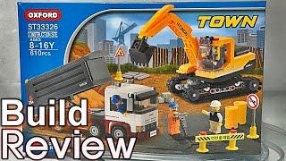 [생방송] 옥스포드 타운 중장비 트럭 포크레인 레고 호환 블럭 조립 리뷰 oxford town st33326