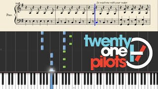 twenty one pilots: Addict With A Pen - Piano Tutorial + SHEETS