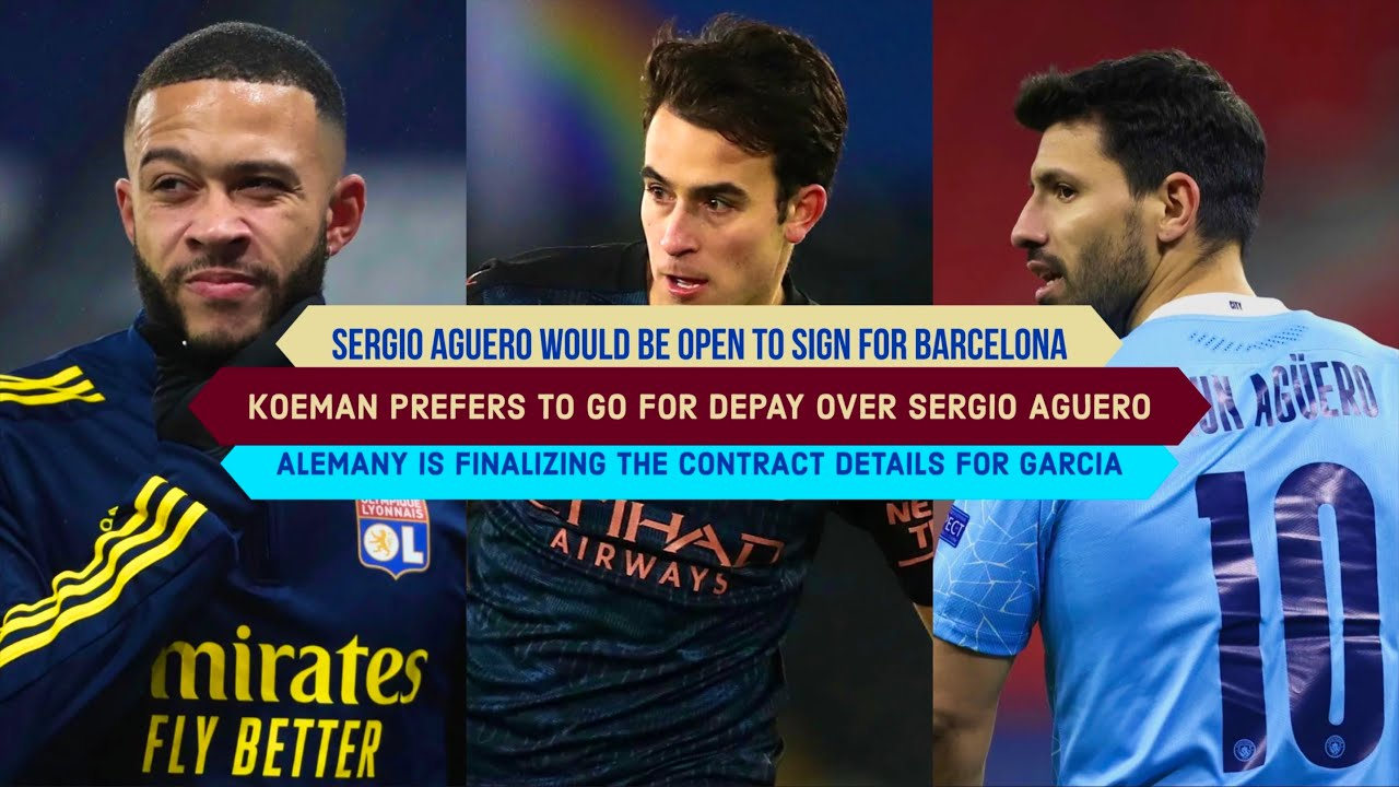 Download Sergio Aguero would be OPEN TO SIGN for FC Barcelona: Memphis Depay & Eric Garcia Latest