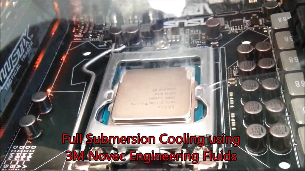 computer liquid cooling submersion with 3m novec youtube