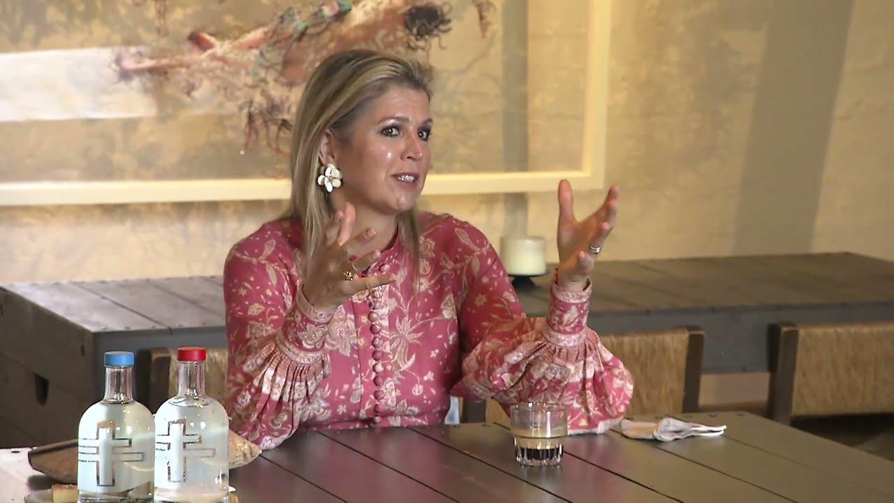 Koningin Máxima bezoekt Villa Pinedo