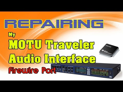Repairing my MOTU Traveler faulty Firewire Port by replacing IC TSB41AB2