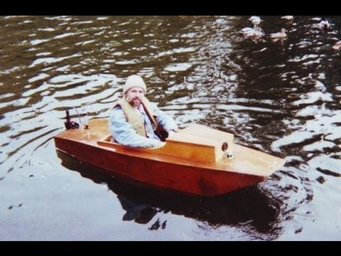 Plywood electric boat - YouTube