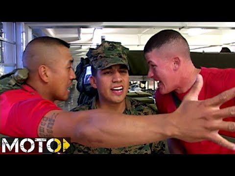 USMC Boot Camp: Fire Watch Incorrectly Reporting His Post - YouTube