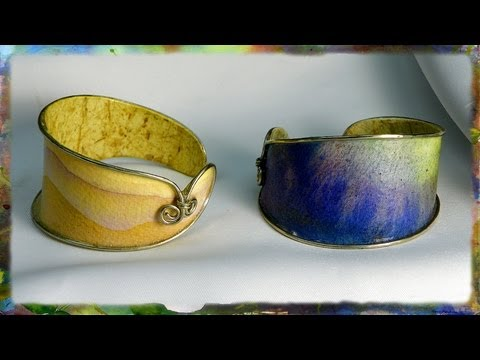 How to Make a Watercolor Paper Bracelet: Integrating Wire with Watercolor Paper