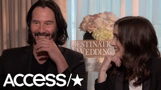Keanu Reeves & Winona Ryder Hilariously Discuss Their Awkward 'Destination Wedding' Sex Scene!