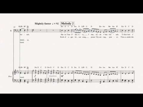 Bass - Rock of Ages - Hanukkah Song - Sheet Music, Chords, & Vocals