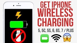 Get iPhone Wireless Charging for 5, 5C, 5S, 6, 6S, 7 / PLUS for 7$