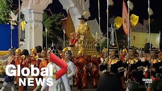 Parade held to commemorate Thai king