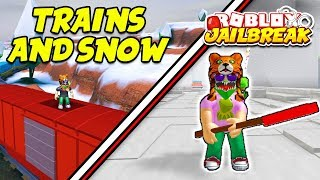 NEW ROBLOX MERCH! | Roblox Jailbreak Winter Update Train and Volt Bike | Snow Shoveling Simulator
