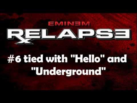 Top 10 songs from Eminem's Relapse album