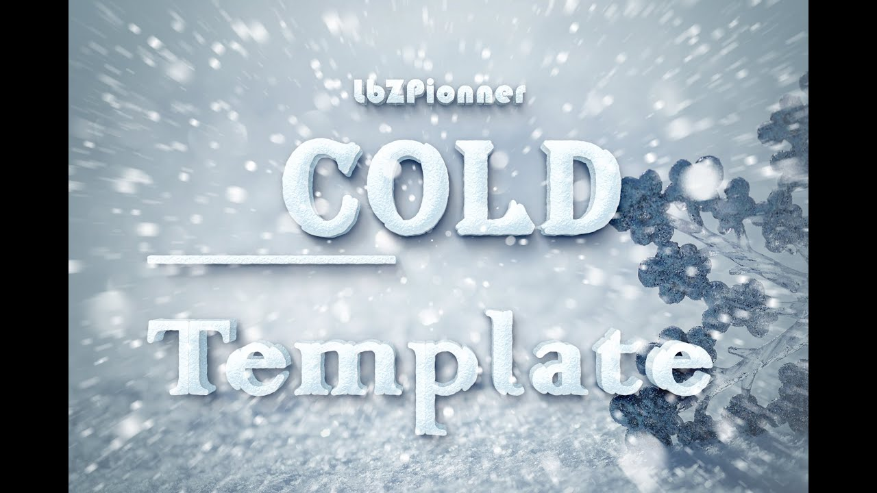 Text Cold Free Psd Template Dl Youtube