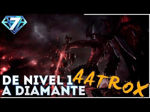 DE NIVEL 1 A DIAMANTE | AATROX JUNGLA | El Oscuro es la hostia!!