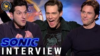 Jim Carrey, Ben Schwartz and James Marsden | Sonic The Hedgehog Cast Interviews