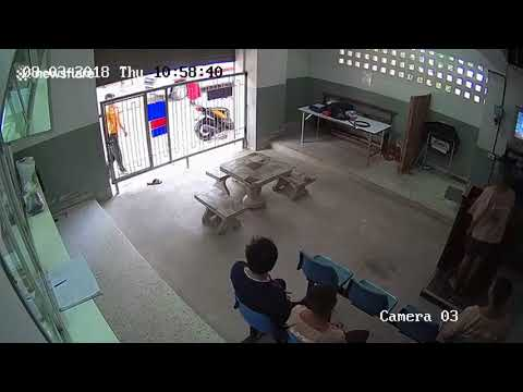CCTV footage leaked| shows prisoner incredible escape past police guards