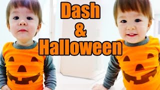 baby dash and halloween 1yr 6m