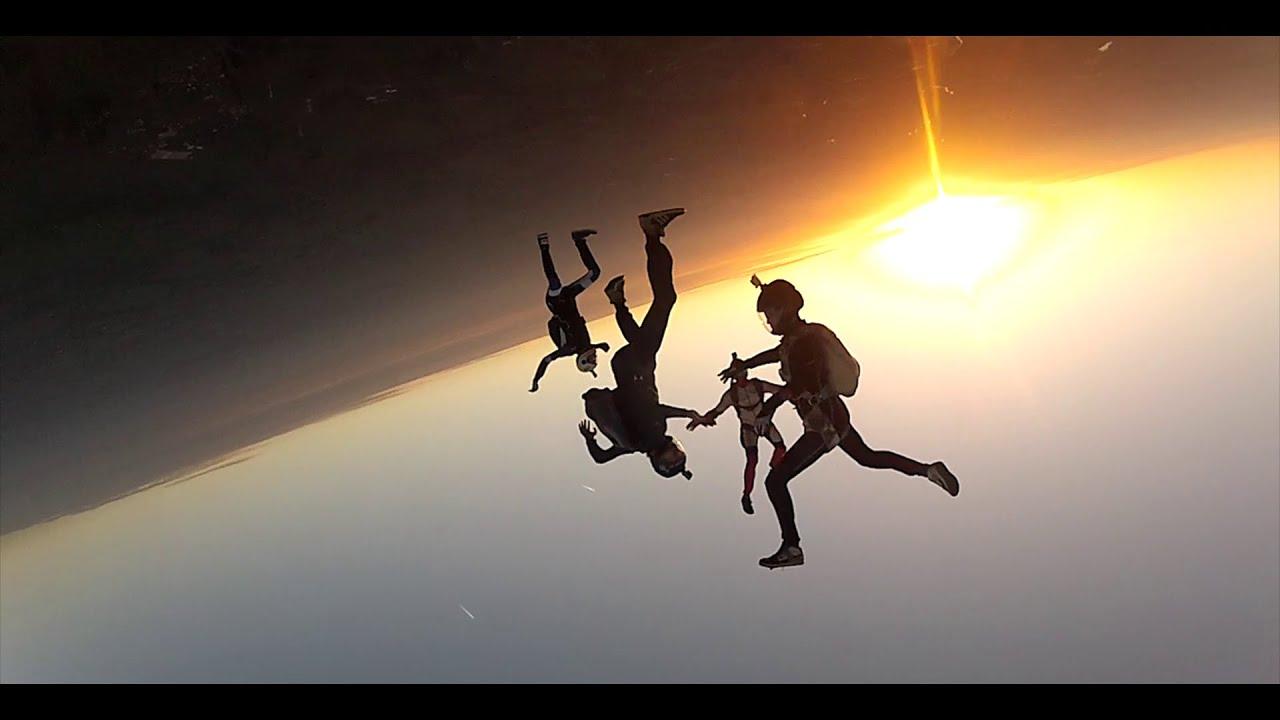 skydiving wallpaper sunset free - photo #17