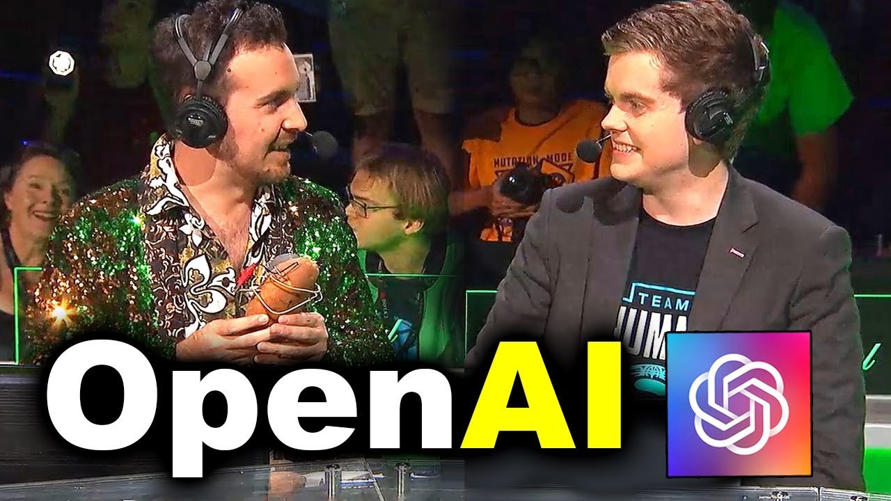 HUMANS vs OpenAI - BIG GOD vs AI - #TI8 SHOWMATCH DOTA 2