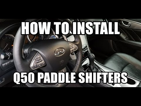 Paddle Shifters Install on an Infiniti Q50 (2016 Premium 3.0t AWD)