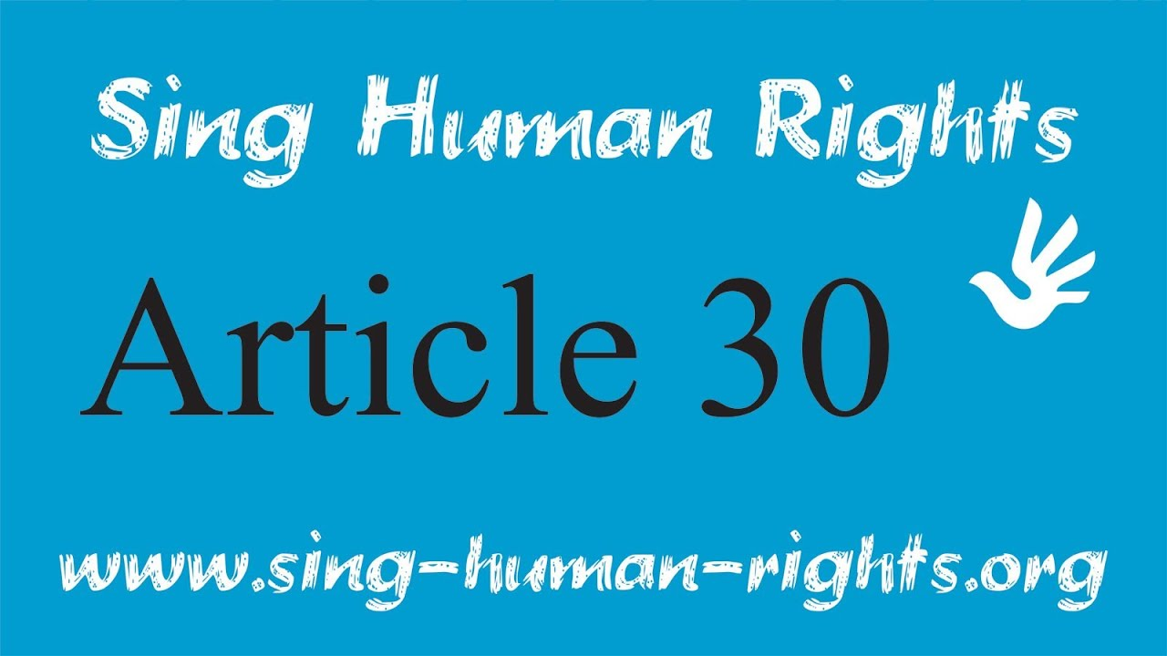 Article 30 - Sing Human Rights - YouTube