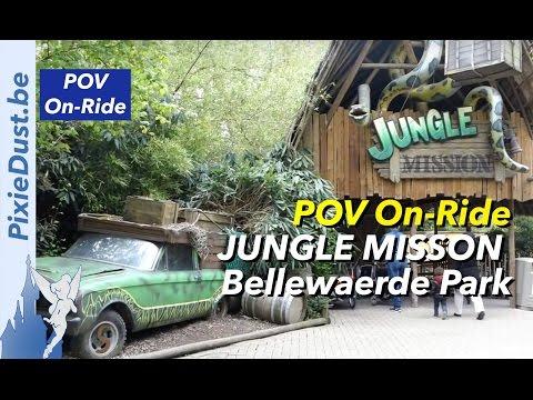 """Non-Disney Parks Series: """"Jungle Mission"""" POV ON-RIDE Bellewaerde Park BELGIUM   HD 1080p"""