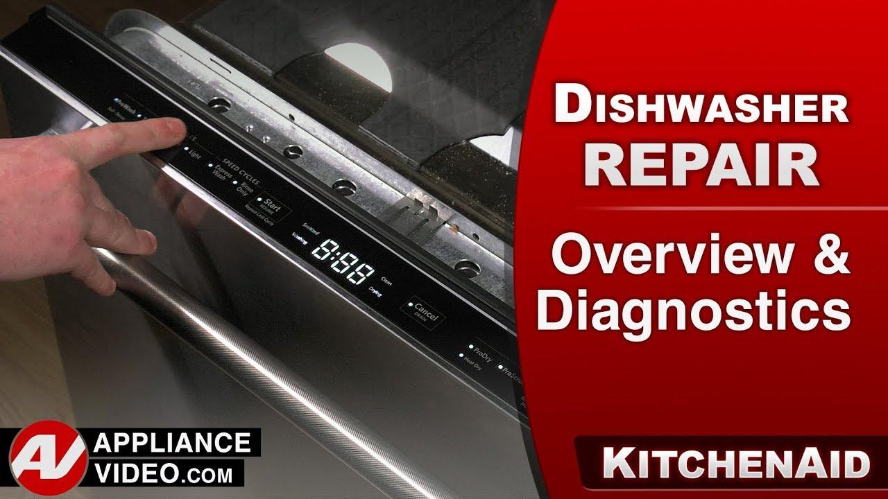 Kitchenaid Dishwasher Overview Diagnostics Troubleshooting Youtube